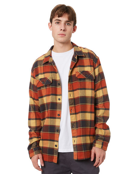 PLOTS BURNISHED RED MENS CLOTHING PATAGONIA SHIRTS - 53947PBRD