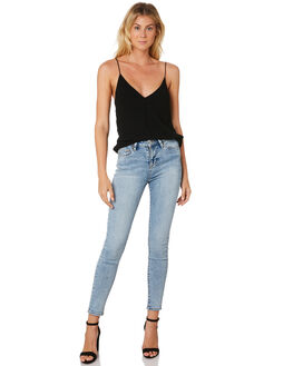 MOONSCAPE BLUE WOMENS CLOTHING RIDERS BY LEE JEANS - R-551553-KD4