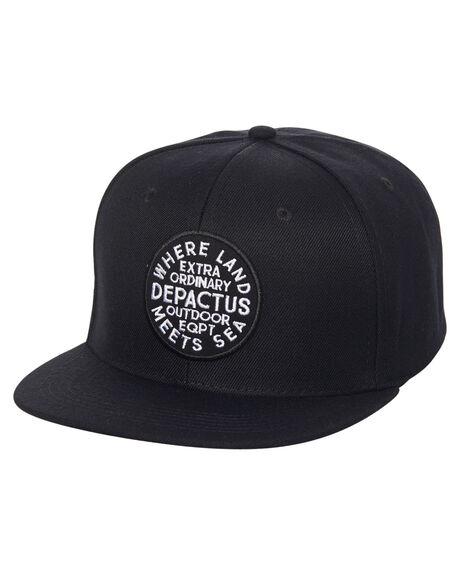 BLACK MENS ACCESSORIES DEPACTUS HEADWEAR - D51711611BLK