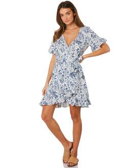 BLUE WOMENS CLOTHING TIGERLILY DRESSES - T391440BLU