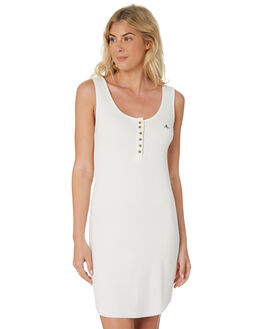 WHITE WOMENS CLOTHING THRILLS DRESSES - WTS8-907AWHT