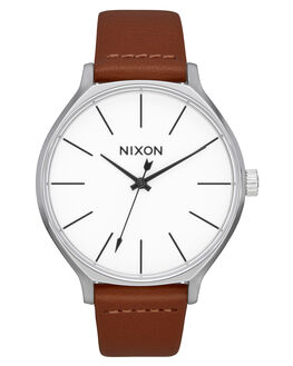 SILVER BROWN WOMENS ACCESSORIES NIXON WATCHES - A12501113