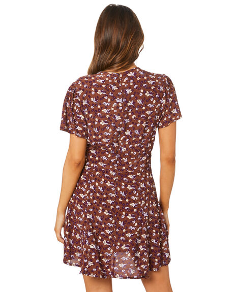 STEVIE FLORAL BRANDY WOMENS CLOTHING RUE STIIC DRESSES - SW-20-41-1-SFB-VRSFB