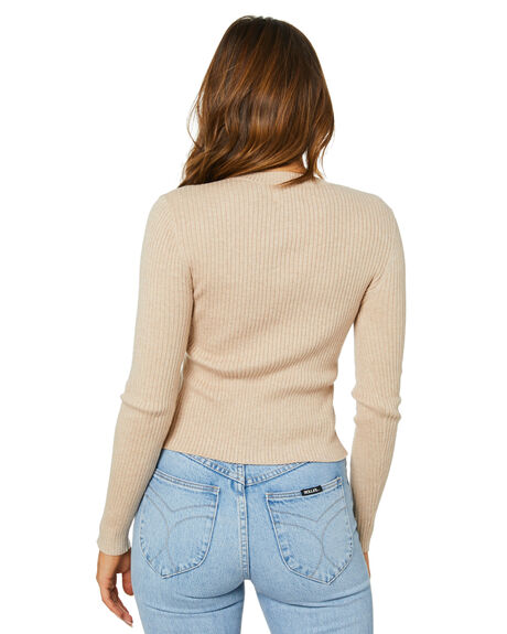 OATMEAL WOMENS CLOTHING NUDE LUCY KNITS + CARDIGANS - NU23852OAT