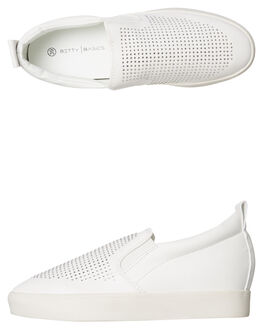 WHITE WOMENS FOOTWEAR BETTY BASICS SNEAKERS - BB904H18WHT