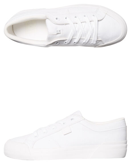 WHITE WOMENS FOOTWEAR DC SHOES SNEAKERS - ADJS300186WHT