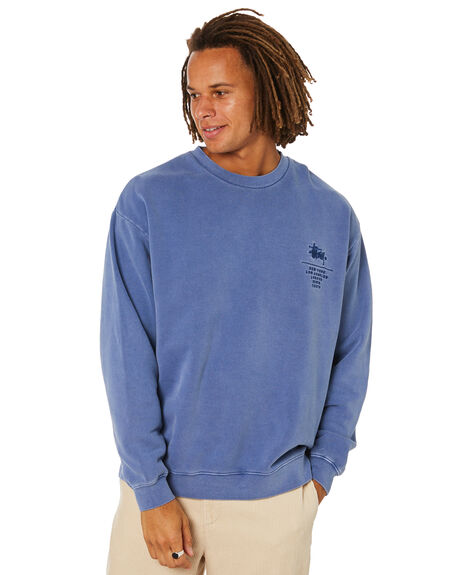 SOLID DUSTY BLUE MENS CLOTHING STUSSY JUMPERS - ST015207SDSBL