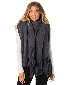 CHARCOAL WOMENS ACCESSORIES RUSTY SCARVES + GLOVES - MAL0398CHA