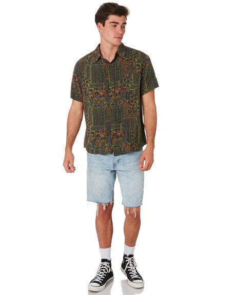 DARK COFFEE MENS CLOTHING RUSTY SHIRTS - WSM0900DCF