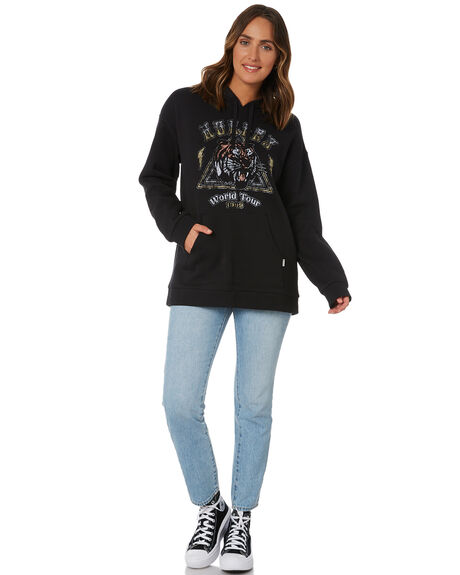 BLACK WOMENS CLOTHING HURLEY JUMPERS - 3HJ222275BLK