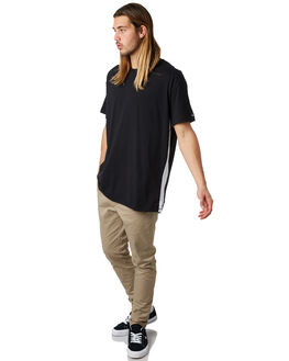 BLACK MENS CLOTHING ZANEROBE TEES - 123-FTBLK
