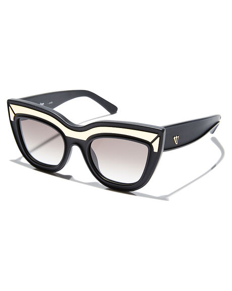 BLACK WITH GOLD WOMENS ACCESSORIES VALLEY SUNGLASSES - S0178BLGLB