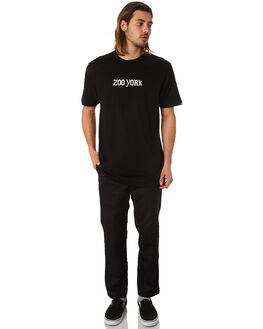 BLACK MENS CLOTHING ZOO YORK TEES - ZY-MTC8164BLK