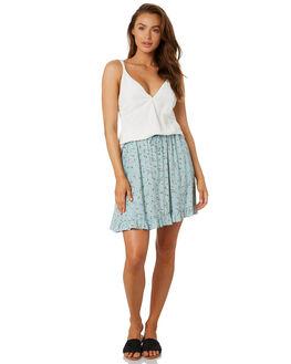PALE AQUA WOMENS CLOTHING RUSTY SKIRTS - SKL0485PAA