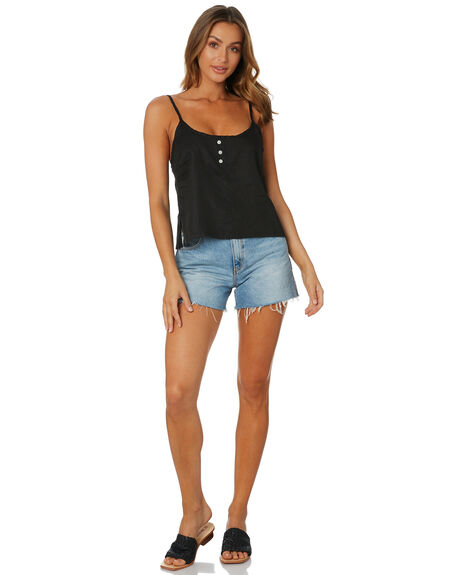 BLACK WOMENS CLOTHING NUDE LUCY FASHION TOPS - NU23972BLK