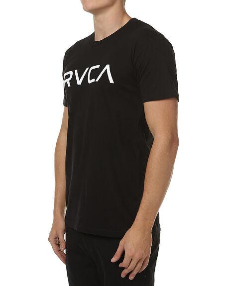 BLACK WHITE MENS CLOTHING RVCA TEES - R161057BLK