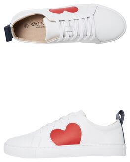 WHITE RED WOMENS FOOTWEAR WALNUT SNEAKERS - HEARTWRED