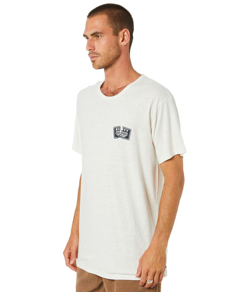 WHITE OUTLET MENS RUSTY TEES - TTM2411WHT