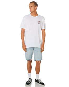WHITE MENS CLOTHING CAPTAIN FIN CO. TEES - CT184006WHT