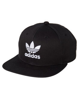 BLACK WHITE MENS ACCESSORIES ADIDAS HEADWEAR - DV0176BLKWH