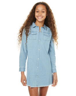 LIGHT BLUE KIDS GIRLS EVES SISTER DRESSES - 9990032LTBLU