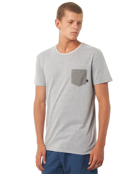 LIGHT GREY HEATHER MENS CLOTHING QUIKSILVER TEES - EQYKT03662SGRH