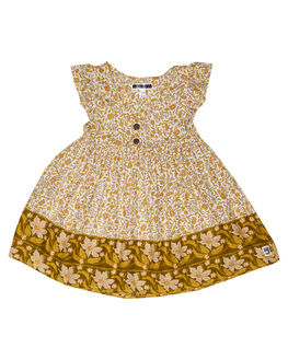 WILDFLOWER GOLD KIDS GIRLS SWEET CHILD OF MINE DRESSES + PLAYSUITS - SP19BDLLDRSSWLFGD