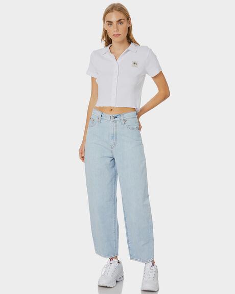 WHITE WOMENS CLOTHING STUSSY TEES - ST191114WHITE