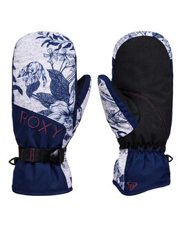 HEATHER GREY FLOWER BOARDSPORTS SNOW ROXY GLOVES - ERJHN03135-SJE1