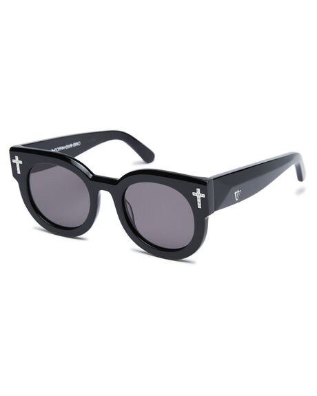 BLACK CRYSTAL WOMENS ACCESSORIES VALLEY SUNGLASSES - S0516BLK