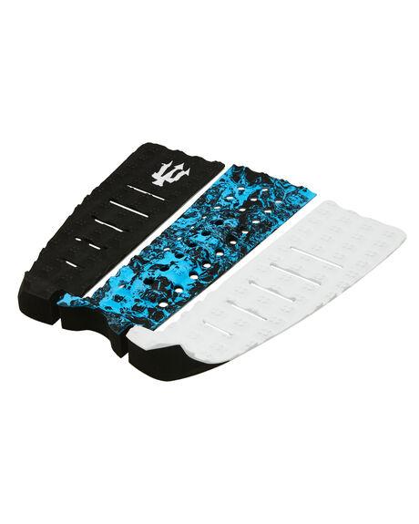 BLACK WHITE BLUE BOARDSPORTS SURF FK SURF TAILPADS - 1204BWB