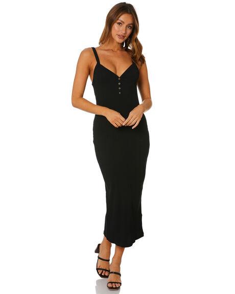 BLACK WOMENS CLOTHING RUSTY DRESSES - DRL1092BLK