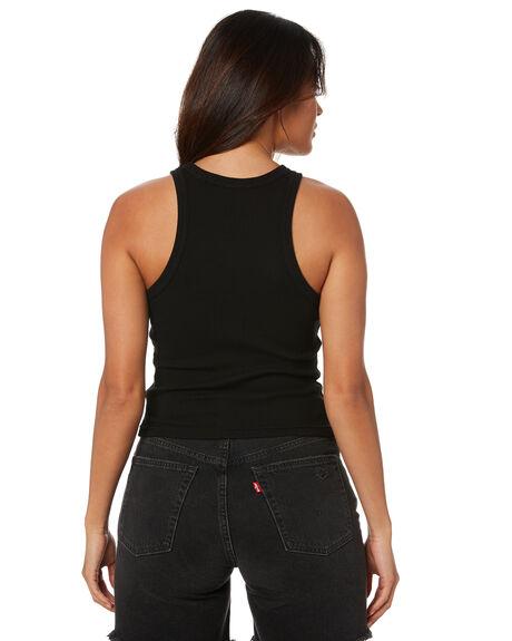 BLACK WOMENS CLOTHING STUSSY SINGLETS - ST1M0154BLK
