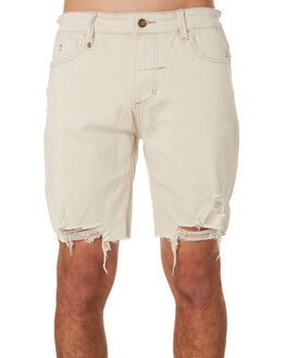 DIRTY WHITE MENS CLOTHING THRILLS SHORTS - TDP-319ADWHI