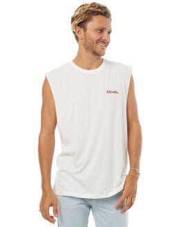 NATURAL MENS CLOTHING AFENDS SINGLETS - 01-05-015NAT