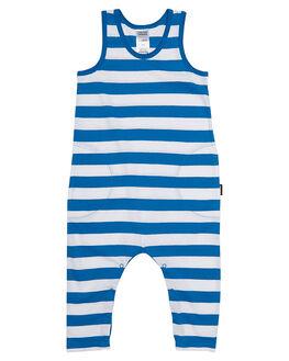 DARK PEACOCK STRIPE KIDS BABY BONDS CLOTHING - BY76AST5