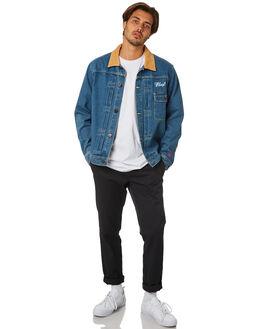 INDIGO MENS CLOTHING HUF JACKETS - JK00145-INDGO