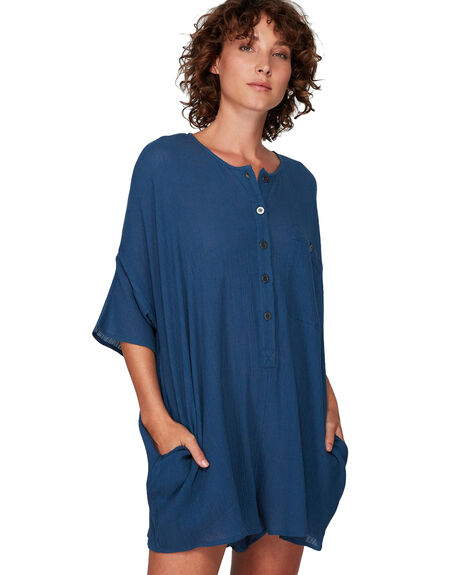 DARK DENIM WOMENS CLOTHING RVCA PLAYSUITS + OVERALLS - RV-R291751-D02
