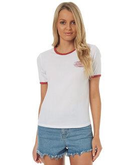 WHITE WOMENS CLOTHING ELEMENT TEES - 273009WHT