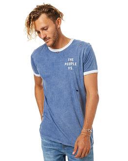 BLUE MENS CLOTHING THE PEOPLE VS TEES - W17005-BLU