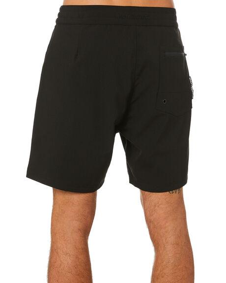 BLACK MENS CLOTHING MISFIT BOARDSHORTS - MT002601BLK
