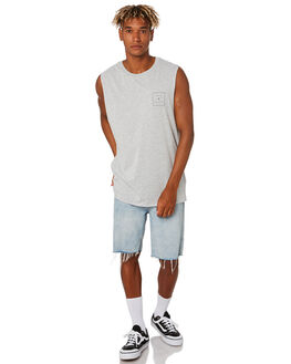 GREY MARLE MENS CLOTHING RIP CURL SINGLETS - CTEWF23442