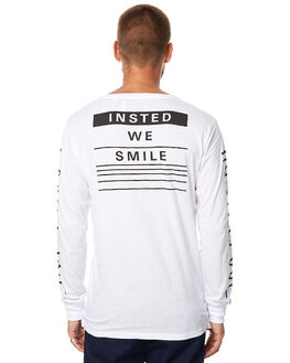 WHITE MENS CLOTHING INSTED WE SMILE TEES - IWST1715WHT