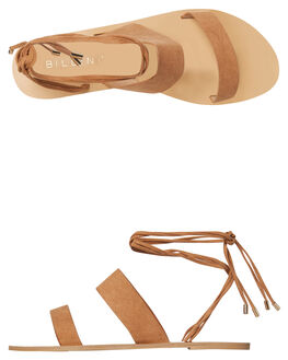 TAN SUEDE WOMENS FOOTWEAR BILLINI FASHION SANDALS - S519TAN