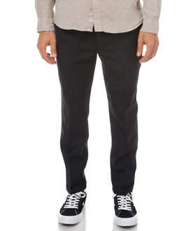 BLACK WOOL MENS CLOTHING NEUW PANTS - 32144B2564
