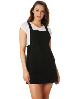 BLACK WOMENS CLOTHING RHYTHM DRESSES - OCT19W-DR10-BLK