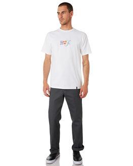 WHITE MENS CLOTHING HUF TEES - TS00820-WHITE