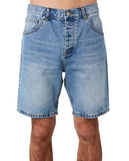 LIGHT BLUE WASH MENS CLOTHING DR DENIM SHORTS - 1710111-G91