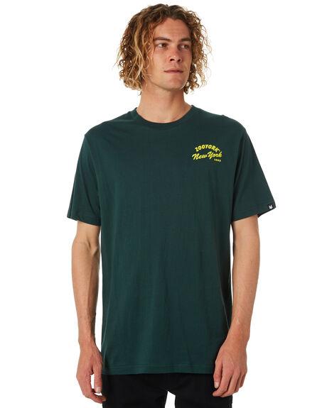 DEEP GREEN MENS CLOTHING ZOO YORK TEES - ZY-MTB8110DGRN