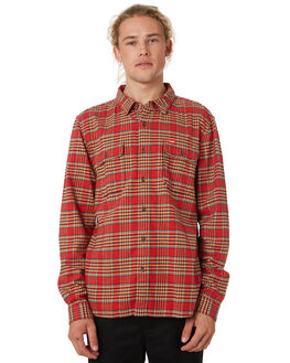 RED CHECK MENS CLOTHING WRANGLER SHIRTS - 901559J04